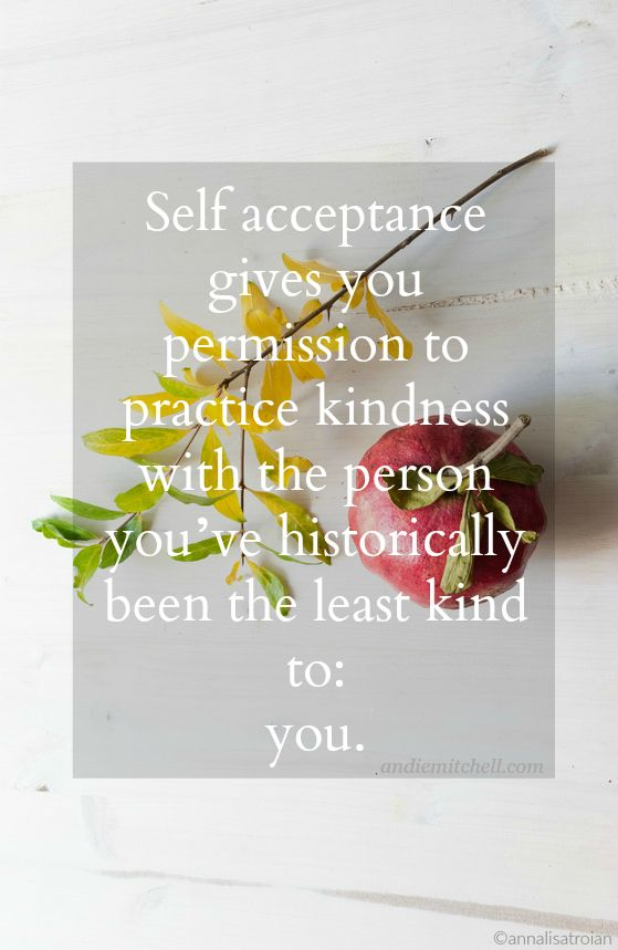 Why Self Acceptance Matters for Weight Loss - an awesome and enlightening post by the lovely Andie Mitchell on AndieMitchell.com #weightloss #motivation