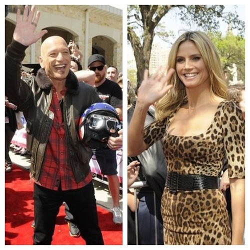 #AGT judges Howie Mandel and Heidi Klum saying hey to all the amazing America's Got Talent fans at San Antonio auditions!