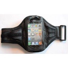 Apple iPhone 4 musta käsivarsikotelo.