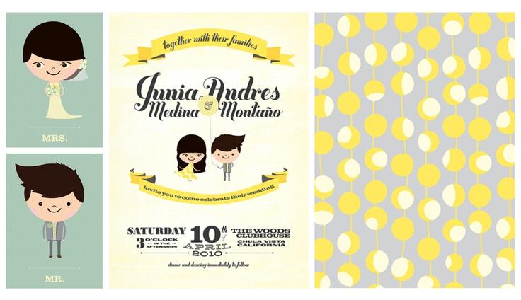 Wedding invite illustration #andresmontano