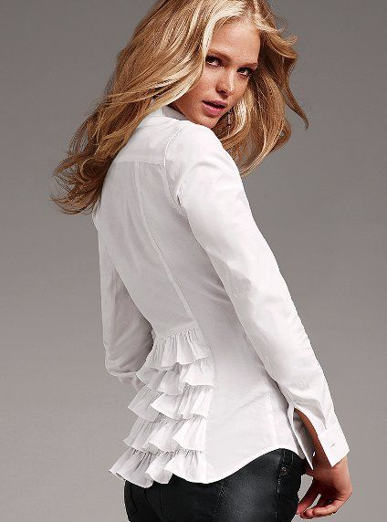 Ladies Fitted White Shirt