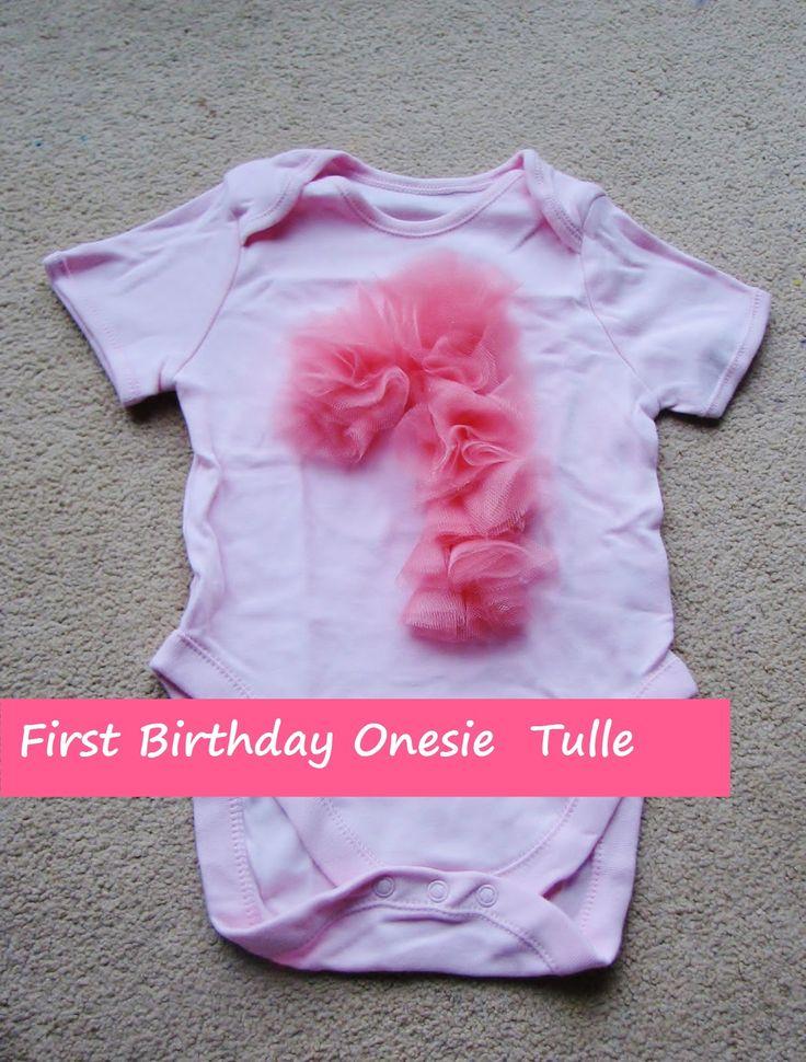 shine on: First Birthday Onesie Tulle (tutorial)