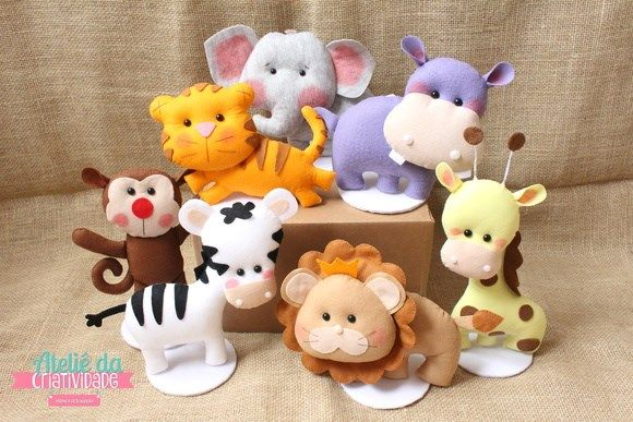 Molde De Bichinhos Safari Bichinhos De Feltro Brinquedos De