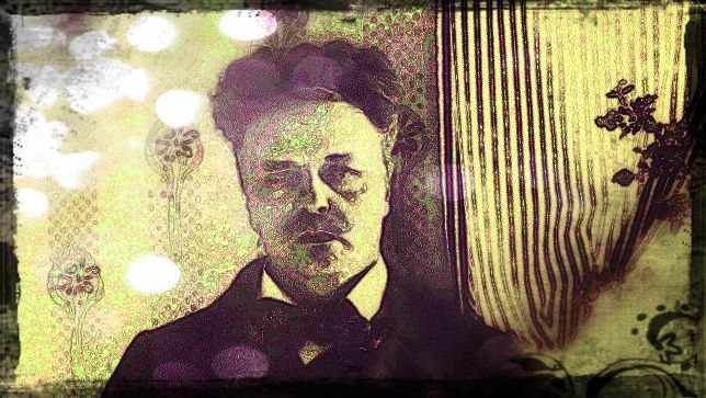 August Strindberg. Swedish author 1