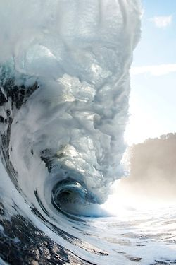 I am the happiest at the ocean, something powerful happens when you surf....