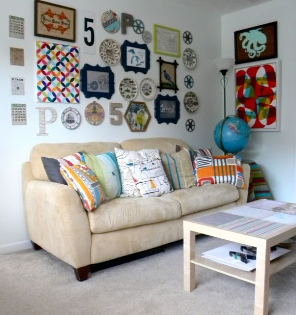 Eclectic wall collage wall art pinterest wall for Collage mural ideas