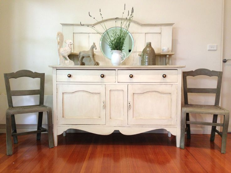 Antique sideboard makeover with Chalk Paint - by Rusty Blue Refashioned…