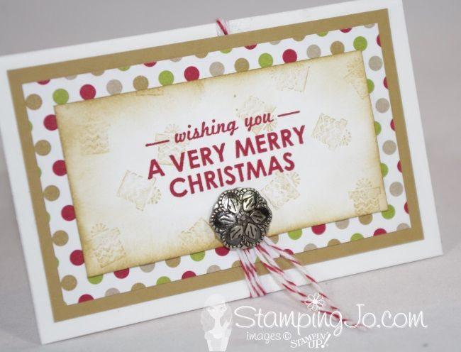 This gift holder starts out with a regular medium sized envelope and can be used to hold anything small- gift cards, tea bags or small CHOCOLATES!!! Yum! http://stampingjo.com/stampin-girls-gone-wild/birthday-or-christmas-you-choose