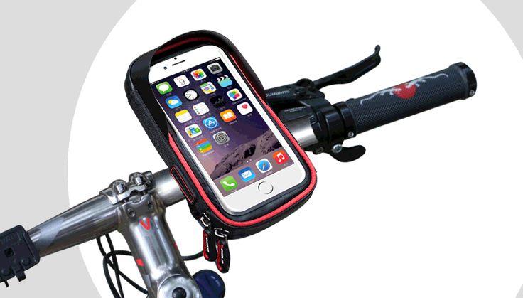 WHEEL UP Rainproof Bike Handlebar Touchscreen Phone Bag Case Cell Phone Holder MTB Frame Pouch Bag