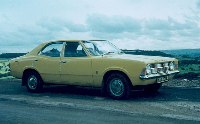Ford Cortina Mk 3 1 3l In Daytona Yellow My Very First Car Family Car 70s Cars My Ride