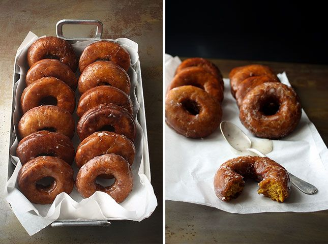 Pumpkin Donuts with Buttermilk Glaze? Yes, please!