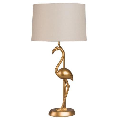 Goldene Flamingo Lampe Mit Beigem Lampenschirm Flamingo Maisons Du Monde Flamingo Lampe Lampenschirm Beige Lampen