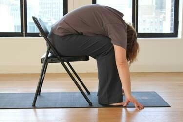 10 best chair yoga images on pinterest  chair yoga