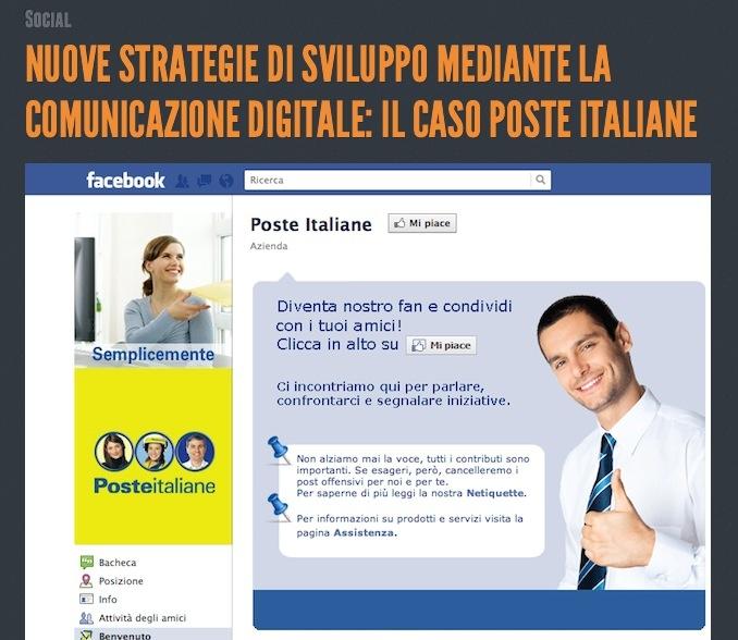 """Poste Italiane adotta la comunicazione """"digitale""""."""