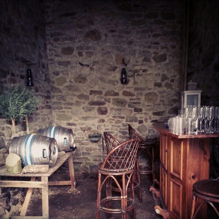 Make shift barn pub