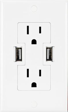 outlets with built in USB ports. brilliant!