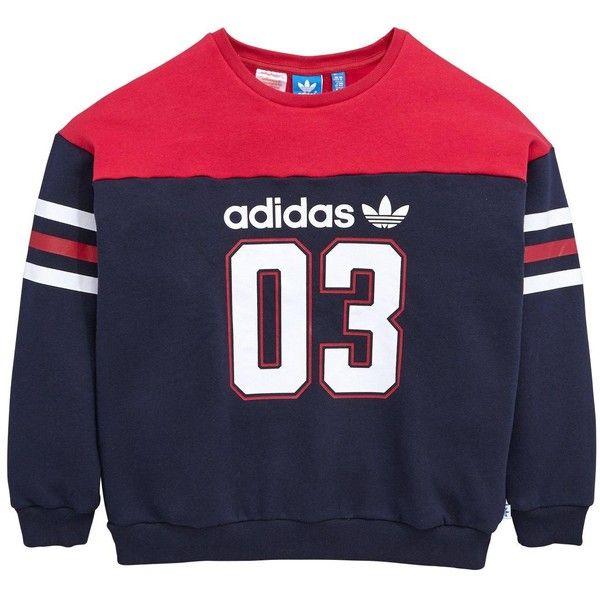 Adidas Originals Older Girls Sweatshirt (140 BRL) ❤ liked on Polyvore  featuring tops,