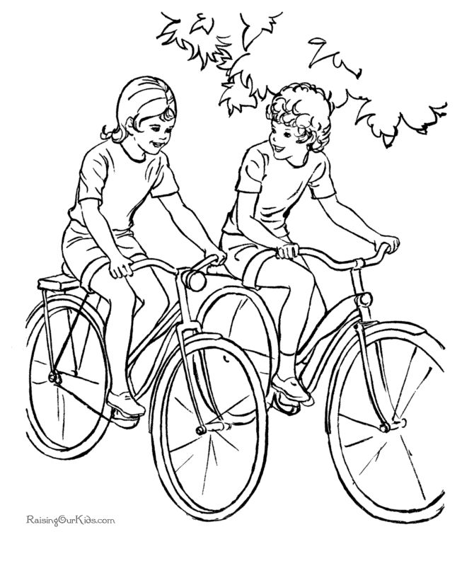 Do you and your kids like to ride bikes? Take pictures of your children riding their bikes, send them to your sponsored child along with this coloring page