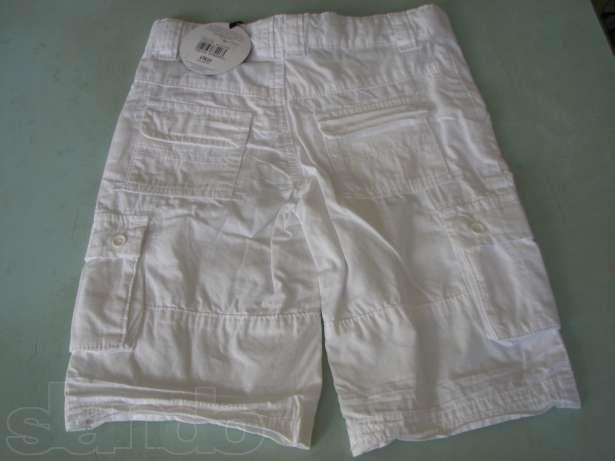 Белые шорты бермуды для мальчика