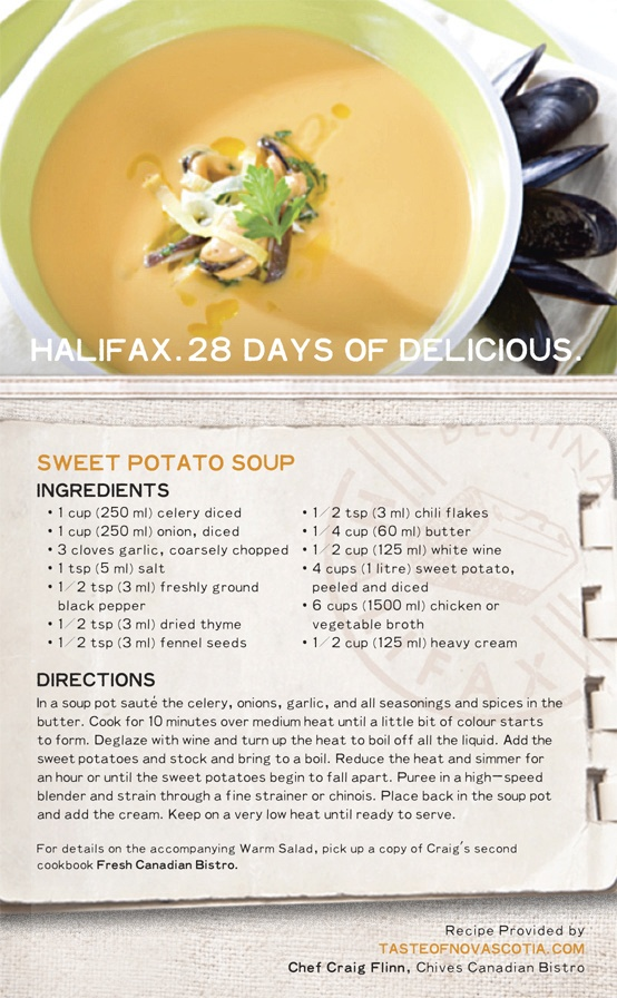 We're releasing one #recipe each day in February to celebrate #Halifax's booming culinary scene, talented chefs, and delicious cuisine. Collect all 28 and explore what #Maritime #food is all about! #28daysofdelicious