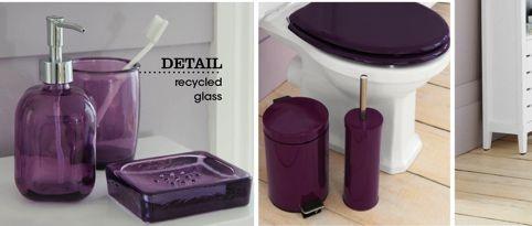 Plum bathroom sets bathroom ideas pinterest for Plum bathroom accessories