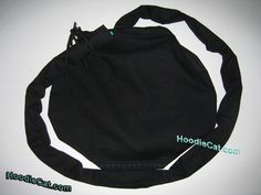 Solid Black HoodieCat Foley Catheter Bag Cover  www.hoodiecat.com Give the Gift of Confidence with a HoodieCat Cover