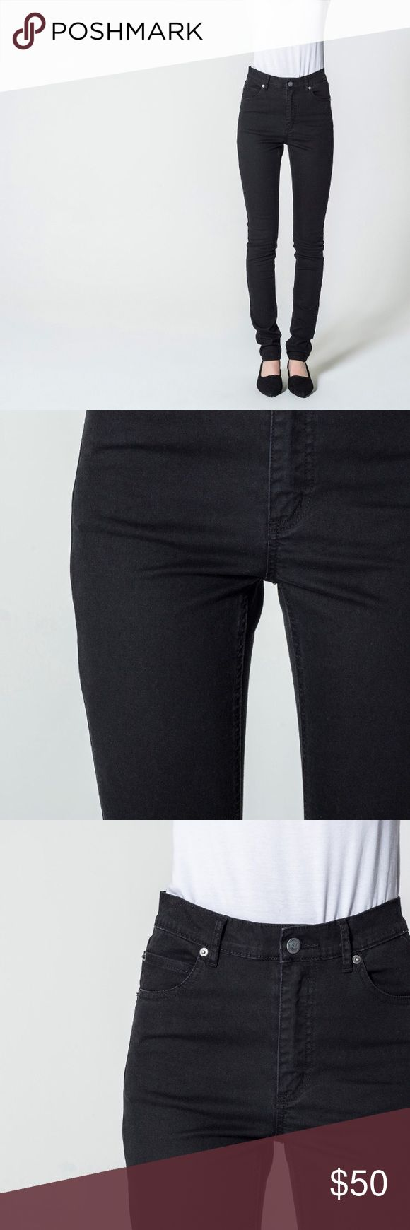 Cheap Monday jeans Previously owned but like new, Second Skin Very Stretch Black Cheap Monday Jeans, high waisted. Cheap Monday Jeans Skinny