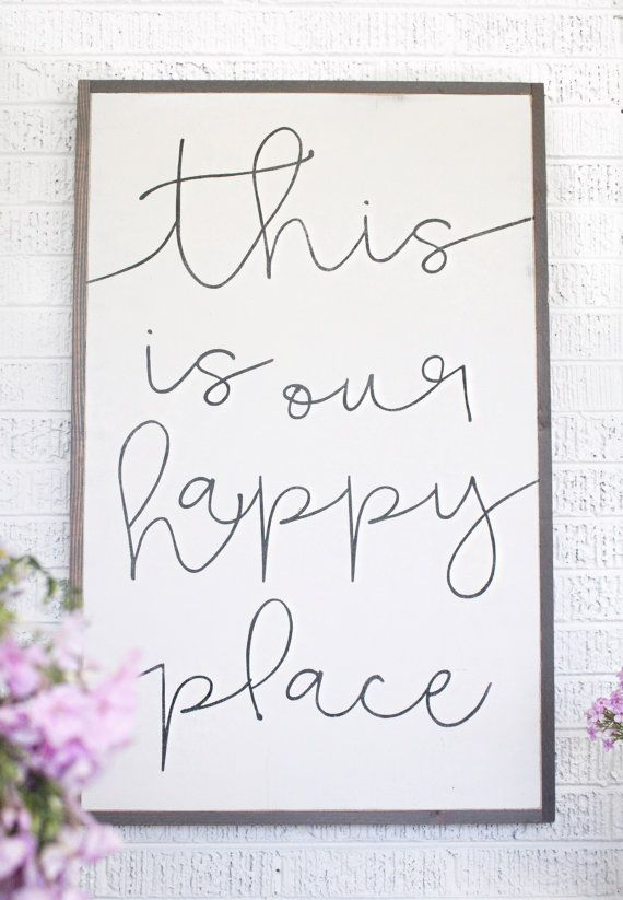 2 X 3 Our Happy Place Par HouseofBelongingLLC Sur Etsy