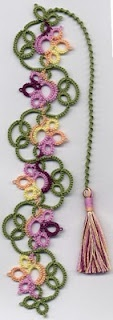 flowery bookmark. Think I'll have a go at this, looks like it will be good practice
