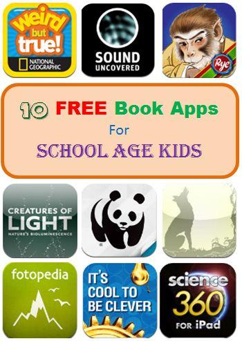 Ten Free Book Apps for School Age Kids