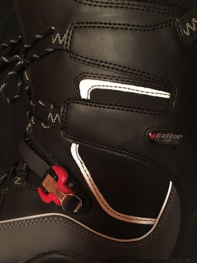 Baffin Hurriance Snowmobile Boot Buckle Photo Steve Cole | Mountain Weekly News http://mtnweekly.com/reviews/footwear-products/boot-reviews/baffin-hurricane-snowmobile-boot-review