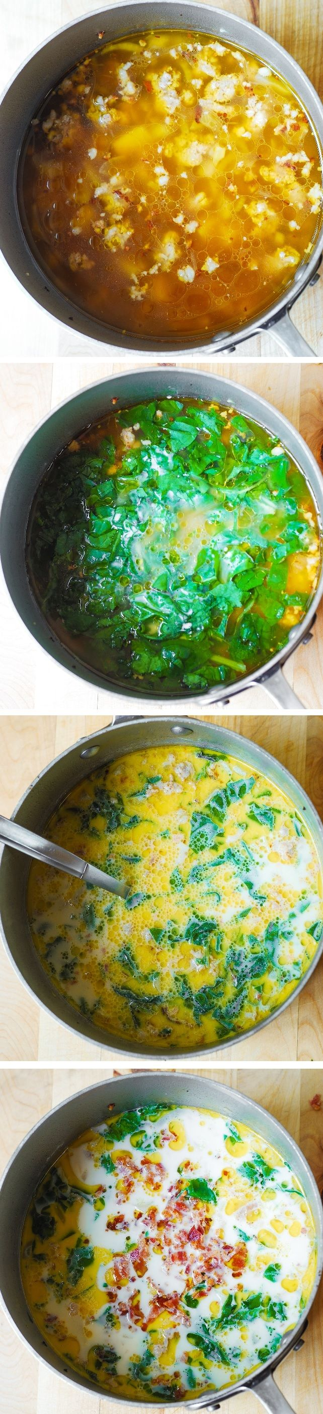 Olive Garden S Zuppa Toscana Soup With Swiss Chard Recipe Gardens Italian Sausages And