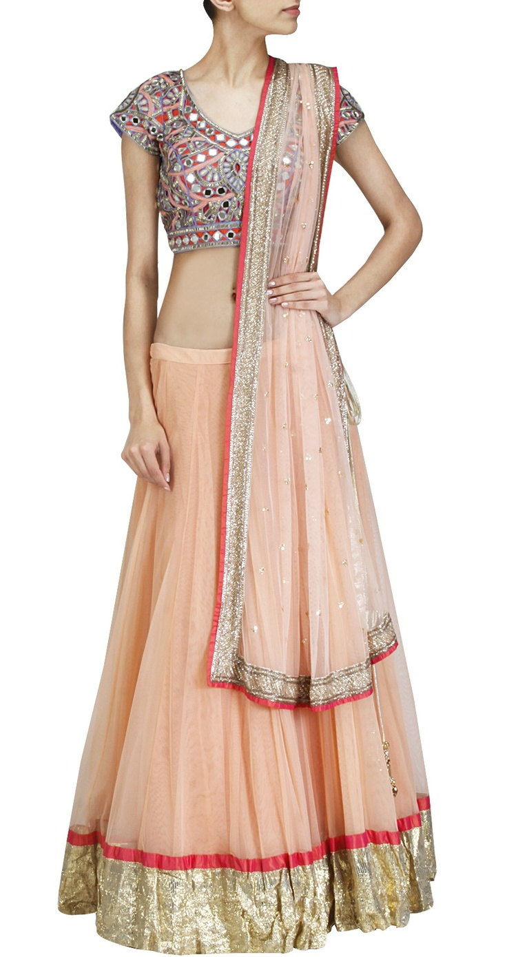 Another pretty option to wear to a friend's or relative's wedding. By Arpita Mehta.