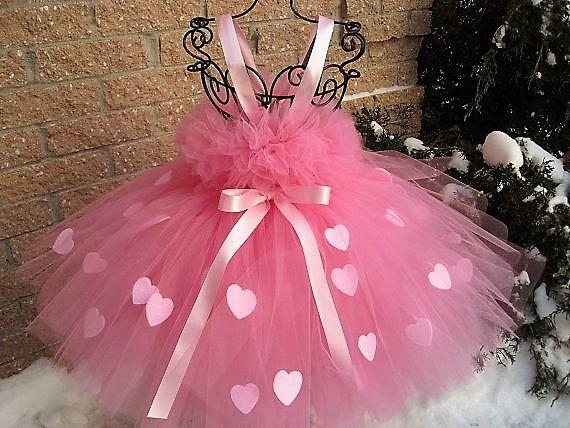 PINK HEARTS PRINCESS. Pink Tutu Dress. Valentine Day by ElsaSieron