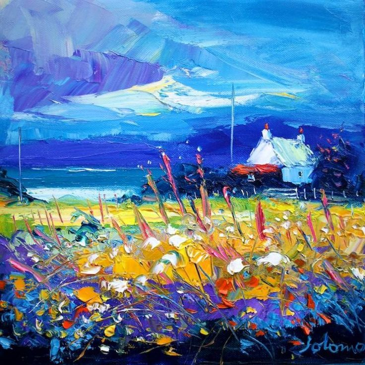 John Lowrie Morrison - Eveninglight over Isle of Gigha