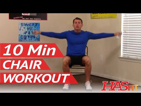 10 Min Chair Workout for Seniors - HASfit Seated Exercise for Seniors - Chair Exercises for Elderly - YouTube