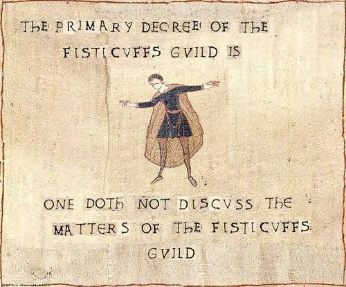 Bayeux Tapestry Version of fight club