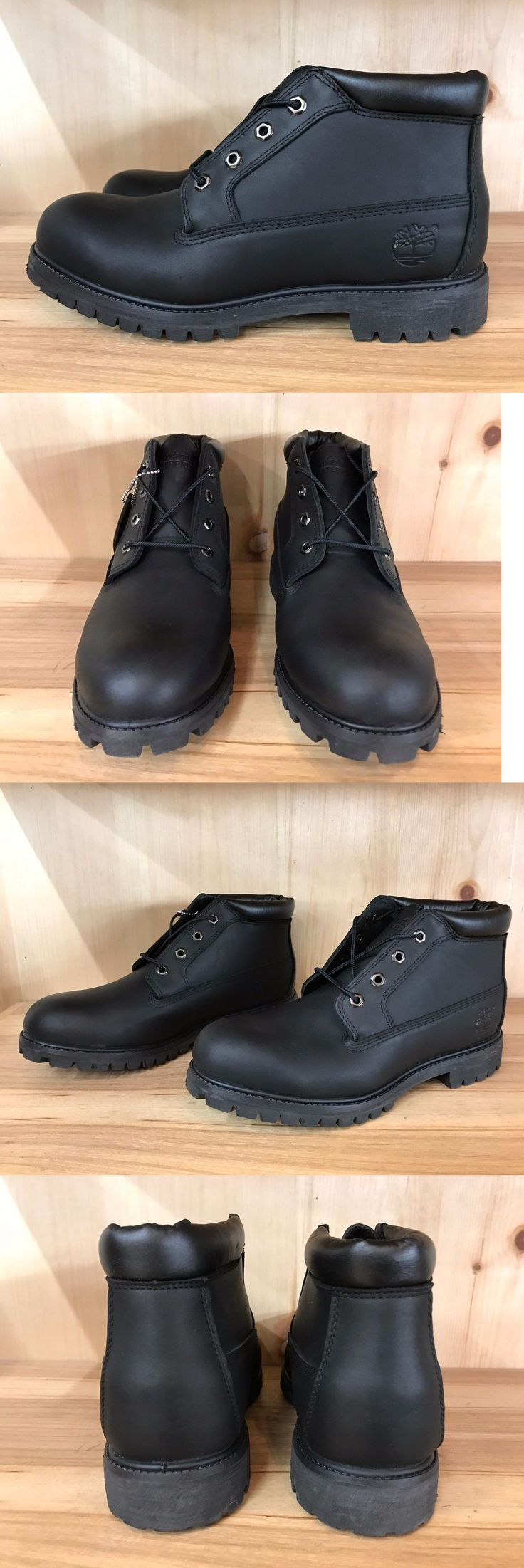 Boots 11498: Timberland Chukka Boot Black Leather Boots Vintage Size 11 23060 -> BUY IT NOW ONLY: $69.99 on eBay!