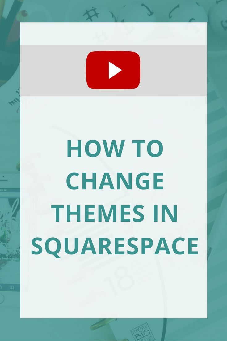 Want to change your Squarespace theme or template? This walks you through how to do it!