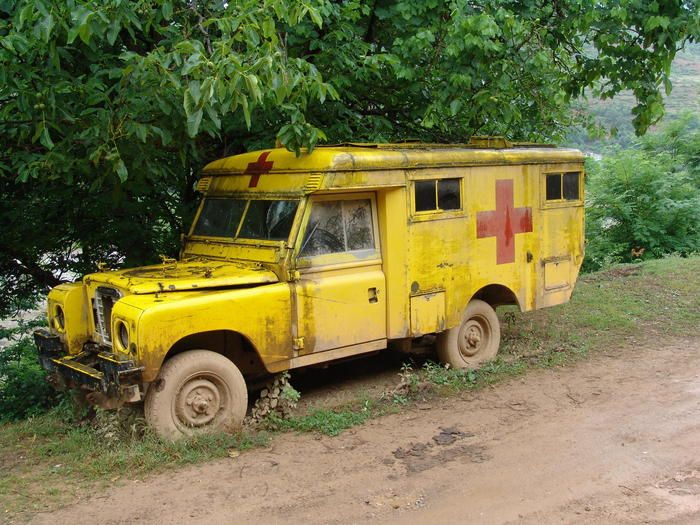 Don't know if this ambulance is still there to rescue, but it looks great on this pinboard