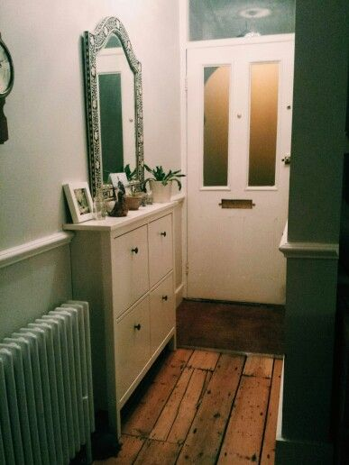 My ikea shoe storage. Perfect for a narrow victorian terrace hallway. London