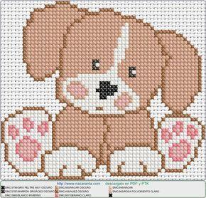 perrito_sentado EN PUNTO DE CRUZ, Cross stitch patterns