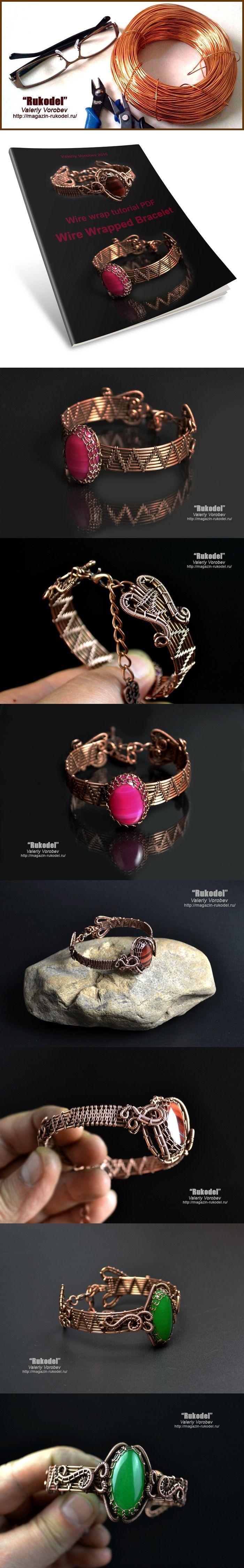 Wire wrap tutorial - PDF. Wire Wrapped Bracelet