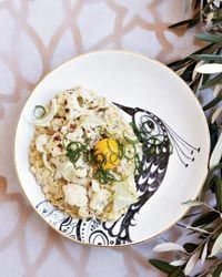 Toasted Farro and Scallions with Cauliflower and Egg // More Amazing Farro Recipes: http://www.foodandwine.com/slideshows/farro-recipes #foodandwine