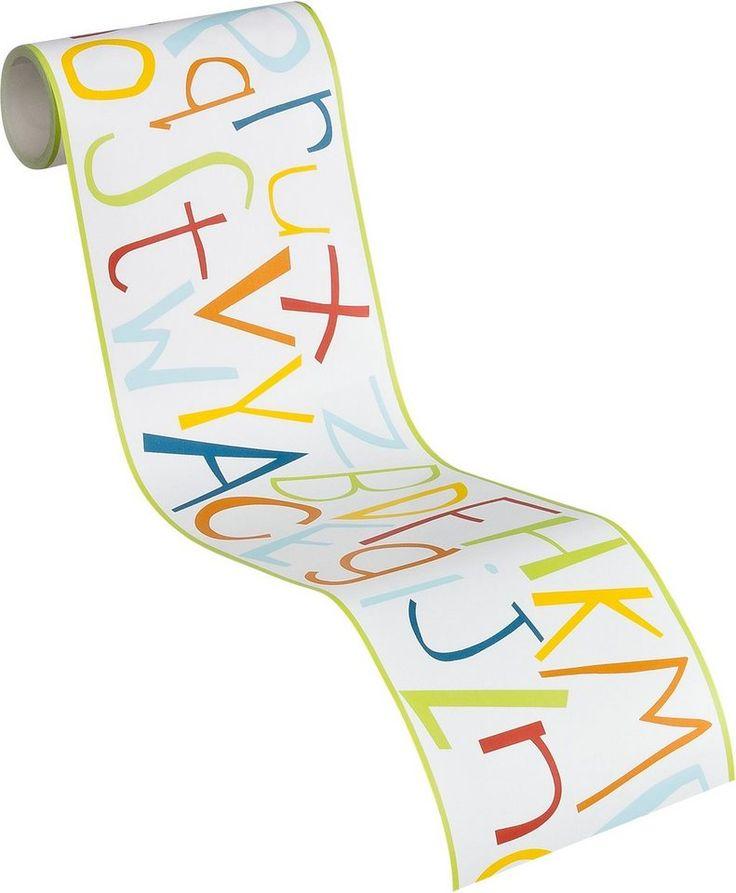 selbstklebende Bordüre, Livingwalls, »Kids Party - Buchstabenpuzzle« für 12,49€. Glatte Oberfläche, Gut lichtbeständig und hoch waschbeständig bei OTTO