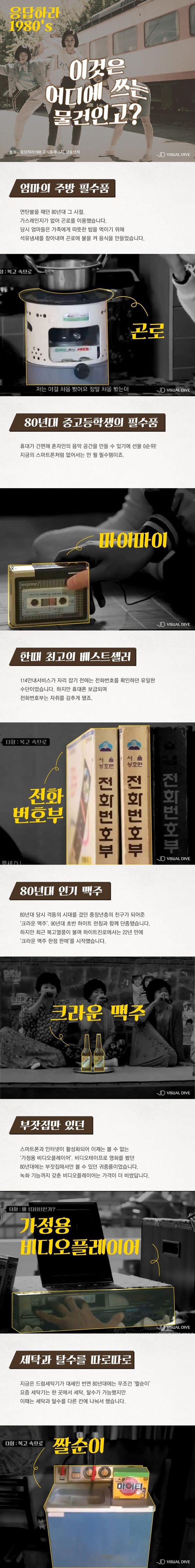'응답하라 1980's' 추억의 아이템은?[카드뉴스] #Drama / #Cardnews ⓒ 비주얼다이브 무단 복사·전재·재배포 금지