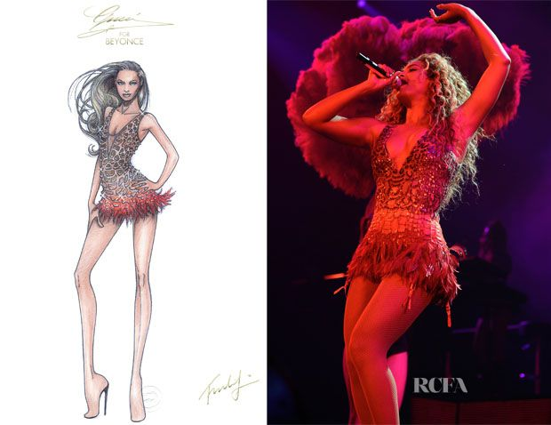 Beyonce Knowles In Gucci – The Mrs Carter Show