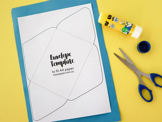 Recycle Craft How To Make An Envelope With Printable Template