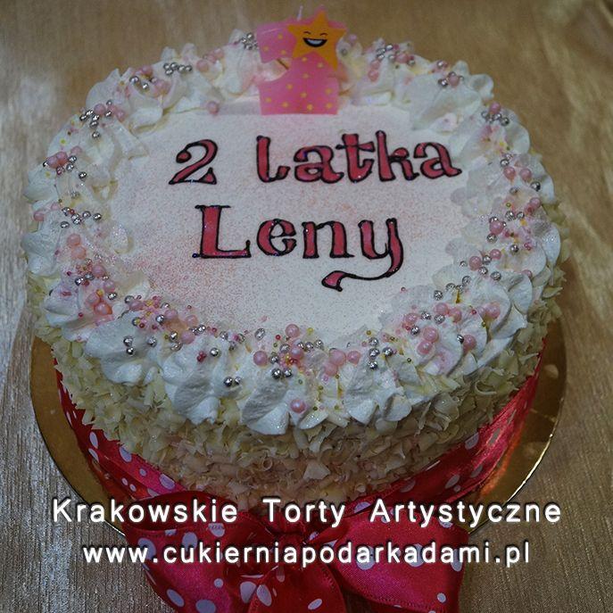 073. Tort śmietankowy na drugie urodziny. Cream cake for 2nd birthday.