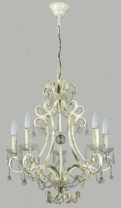 Antique White Provincial 5 Light Pendant - Ceiling Light